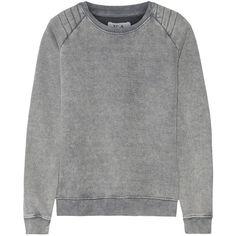 Zoe Karssen Cotton-blend jersey sweatshirt ($69) ❤ liked on Polyvore featuring tops, hoodies, sweatshirts, grey, grey sweat shirt, sweatshirt hoodies, gray sweatshirt, zoe karssen sweatshirt and quilted top