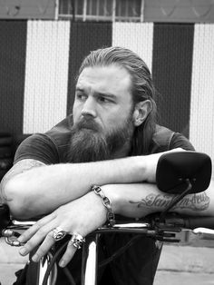Opie, 'Sons of Anarchy', grizzled and gold-toothsome.