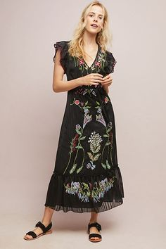 f50d1660f08d1 Beaded Corsica Dress | Anthropologie Stunning Wedding Guest Dresses, Estilo  Boho, Outfits For Teens
