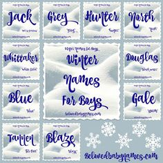 Beloved Baby Names: Wonderful Winter Names For Boys