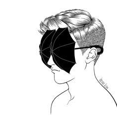 Clever black & white illustrations by Henn Kim.  More illustrations Visit his shop