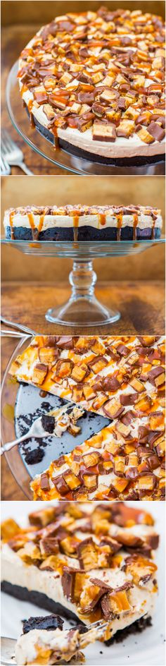 No-Bake Deep-Dish Peanut Butter Snickers Pie with Salted Caramel