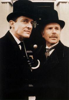 Sherlock Holmes (Jeremy Brett) and Dr. Watson (David Burke) - Grenada version