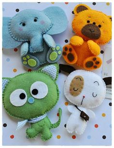 What a great collection of furry felt animals!