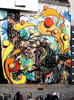 Autor PichiAvo Título King Robbo Sclater Street London Técnica - Beautiful giant murals greek gods pichi avo