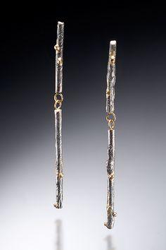 """""""Long Twig Earrings""""   Gold & Silver Earrings  $ 324"""
