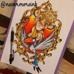 #disney #Simba #TheLionKing #LionKing #tattoo #disneytattoo