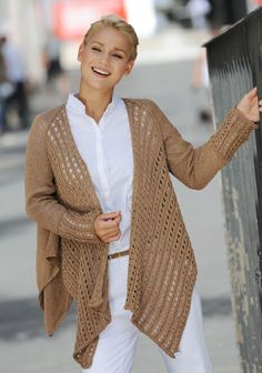 Neulottu shaalijakku SK 3/14. Crocheting, Knit Crochet, Knitting, My Style, Places, Sweaters, How To Wear, Diy, Clothes