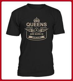 Queens Are Born In January TShirts - Shirts für freundin mit herz (*Partner-Link)