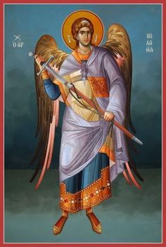 Archangel Michael - Archangel Michael stands first and foremost for protection… Religious Images, Religious Icons, Religious Art, Byzantine Icons, Byzantine Art, Angel Warrior, Angel Pictures, Angels Among Us, Catholic Saints