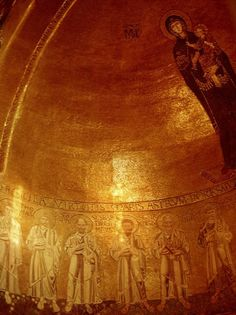 Torcello (island) - known for mosaics. This website may be one source for a tour including this island and Murano and Burano. [The photo - The golden 12th century mosaics in the apse of Basilica of Santa Maria Assunta on Torcello.]