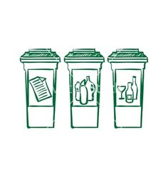 Doodle Recycle bins garbage separation vector image on VectorStock Signage Design, Design Competitions, Recycling Bins, Cool Baby Stuff, Vector Art, Doodles, Fun, Art Logo, Image