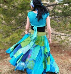 Patchwork gypsy skirt