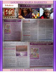 REMESA .DOMINGO 16 DE MARZO DEL 2014. CUARESMA. EVANGELIO SEGÚN SAN MATEO 17,1-9 PARTE 1. +LOURDES MARÍA BARRETO+