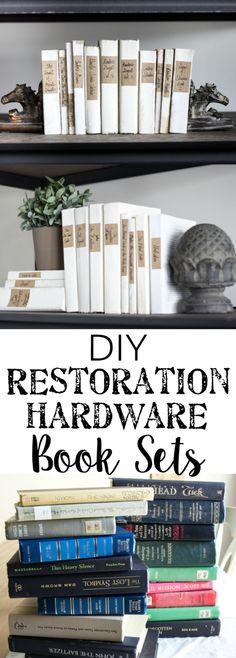 DIY Restoration Hardware French Mute Books | blesserhouse.com