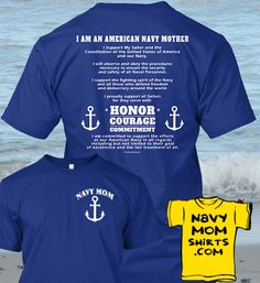 Navy Mother's Creed Shirt. - Lots of styles and colors. Get it HERE: NavyMomShirts.com - #NavyMothersCreed