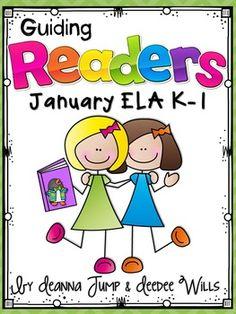 HOT OFF THE PRESS!  Guiding Readers: January  No Prep ELA unit for K-1