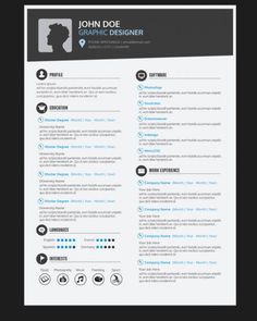 resume templates for free Graphic designer resume template Vector Web Designer Resume, Graphic Designer Resume Template, Artist Resume, Graphic Design Resume, Graphic Designers, Infographic Resume Template, Best Resume Template, Creative Resume Templates, Cv Template