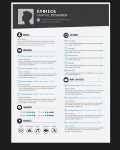 Modelo de currículo designer gráfico Vetor grátis                                                                                                                                                                                 Mais