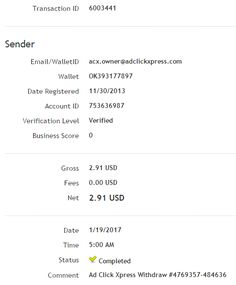 ADCLICKXPRESS – ACX IS AWESOME AND HERE IS MY PAYMENT NR.5! NO SCAM HERE!! I am getting paid daily at ACX and here is proof of my latest withdrawal. This is not a scam and I love making money online with Ad Click Xpress. www.adclickxpress.ishttp:/www.adclickxpress.is