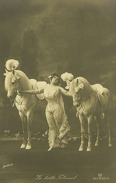 17 Vintage Photos of Circus Horses & Big Top Beauties ~ follow this link for some postcards from this vintage past.