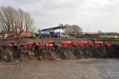 Dutch pumps on the River Parrett, Somerset, February 2014. Photo: Brian Bateman / Environment Agency