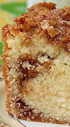 Cinnamon-Walnut Coffee Cake ❊