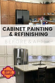 We are experts in cabinet refinishing who thrive on meeting challenges with creativity and expertise.  Cabinet Refinishing   Cabinet Painting   Before & After   Restyle Junkie   Home Makeover   Updated Home   Home Renovation   Greater Phoenix Area Refacing Kitchen Cabinets, Kitchen Cabinets In Bathroom, Diy Cabinets, Retro Home Decor, Unique Home Decor, Diy Home Decor, Small House Decorating, Decorating On A Budget, Home Renovation
