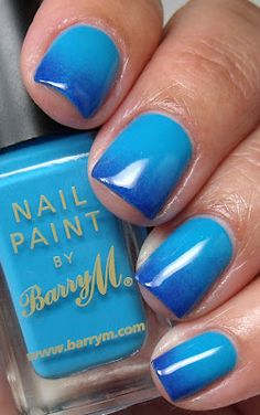 Barry M Blue gradient