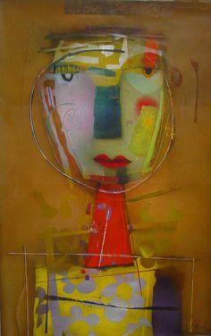 Art Design, Folk Art Dolls, Expressionist Art, Fine Art, Abstract Art, Abstract Portrait, Abstract, Art Journal, Abstract Faces