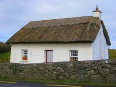 Traditional Irish Thatched Roof House