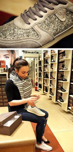 #Frühlings #Trend #5: #Glam #Sneakers Glam-Turnschuhe von #Tamaris im #AlleeCenterMagdeburg: 59,95 €. Mehr Infos findet ihr auf unserem #Blog: www.mag-mag.de #MagMag #Magdeburg #Fashion #Mode #Beauty
