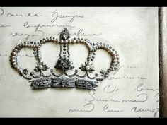 Watch this jewel encrusted crown art piece come together in a short video by Amanda of Girl in Pink. Annie Sloan Chalk Paint, Artisan Enhancements Crown and Script stencils, Fine Stone and Leaf & Foil Size were used in the creation of this unique piece!