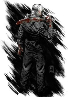 Jason Voorhees by alextso Jason Friday, Friday The 13th, Horror Icons, Horror Films, Arte Horror, Horror Art, Horror Villains, Slasher Movies, Michael Myers
