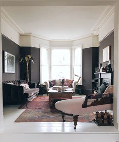 10 Reasons You Need To Bring Brown Furniture Into Your Home - Mad About The House Mad About The House Wimborne White, Mad About The House, Mug Design, Brown Furniture, Antique Furniture, Love Your Home, Gray Sofa, Upholstered Sofa, Room Tour