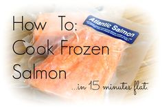 How to Cook Frozen Salmon. Easy recipe and tutorial for cooking salmon fillets straight from the freezer - no defrosting necessary, still moist and delicious. Ready in 15 minutes or less!