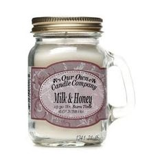 The Gecko Shack - Milk & Honey soy blend mini mason jar candle - smells amazing. Mini Mason Jars, Mason Jar Candles, Soy Candles, Metal Garden Art, Candle Companies, Milk And Honey, Bar Signs, Beach House Decor, Great Gifts