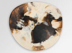 Large Resin Modern Tribal Platter - Light Horn - Dinosaur Designs