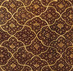 Deux plats de reliure : délassement princier dans la nature Mohammed Soltân (16e siècle)