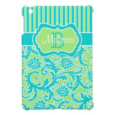 Blue, Green, White Striped Damask iPad Mini Case so please read the important details before your purchasing anyway here is the best buyDiscount Deals          	Blue, Green, White Striped Damask iPad Mini Case Online Secure Check out Quick and Easy...
