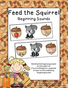 Feed the Squirrel Beginning Sounds Game.  A great activity for work stations!  $2.00