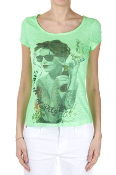 BeMover Donna T-Shirt SARA Stampata in Jersey - Spence Outlet