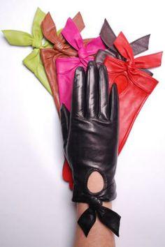 My Happy Knot Gloves. #Fashion #leather #elegant #gloves