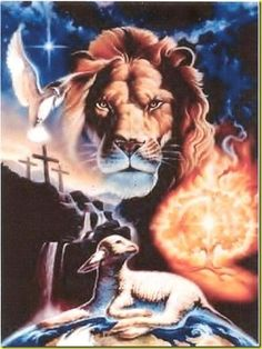 The Lion, The Lamb and The Dove  (God, Jesus Christ and The Holy Spirit)