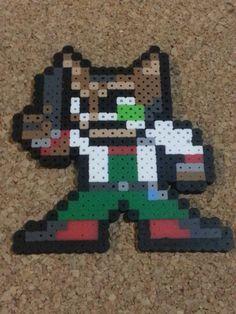 Fox Bead Sprite  Super Smash Brothers  8 bit by DCBPerlerSprites