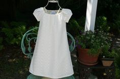 Flower girl Baptism lined dress in ivory by AnastaciayGus on Etsy, $49.00