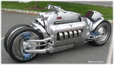 The Tomohawk: Dodge Viper Engine in a motorcycle...... ESTIMATED top speed 300+...... they were too scared to go that fast lol