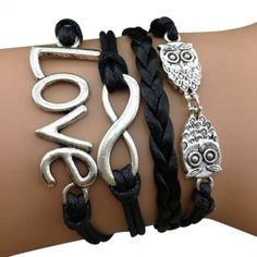 Love and Owls Arm Party Bracelet