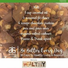 you who love Fit Chews or chocolate or turtles or all of that chewy sweet and nutty goodness this is a must try! Arbonne 30 Day Cleanse, Arbonne 30 Day Challenge, Arbonne Detox, Detox Challenge, Arbonne Shake Recipes, Arbonne Protein Shakes, Protein Shake Recipes, Protein Mix, Protein Power