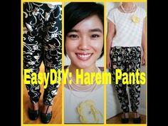 ▶ EASY DIY: Floral Harem Pants #13 - YouTube